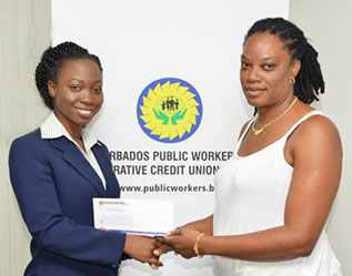 The Youth Sports Programme at Harrisons College Barbados, received a donation from the Barbados Public Workers' Co-operative Credit Union.